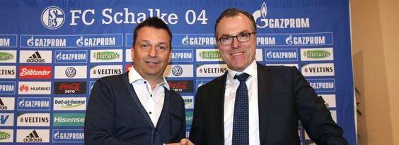Schalkes neuer Sportvorstand Christian Heidel (l.) mit Clemens Tönnies.