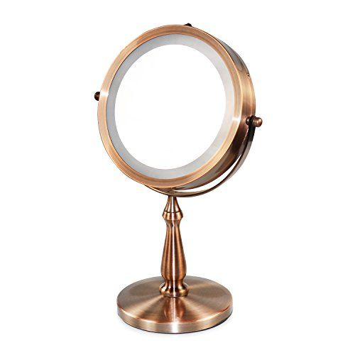 Vanity Mirrors Lighted Makeup Mirrors With 1x 5x 360 Swivel
