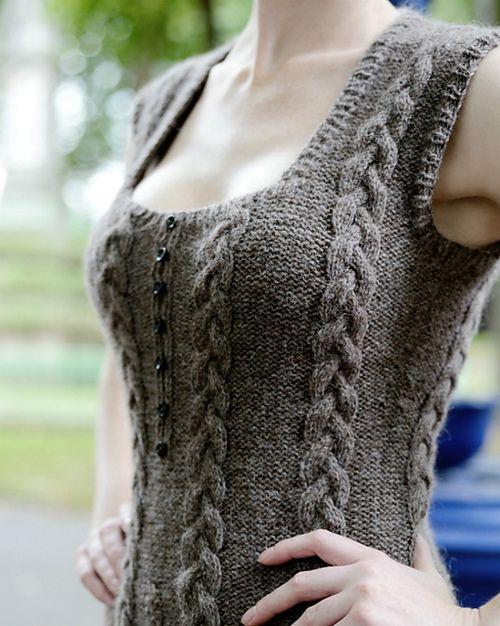 Free Knitting Patterns On Pinterest : Knit vest pattern pinterest crafts