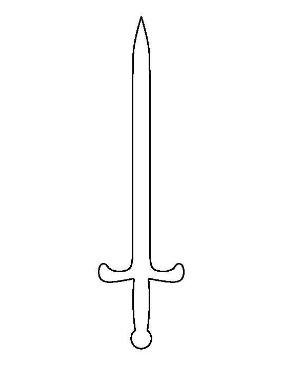 Sword Pattern Use The Printable Outline For Crafts Creating Stencils Scrapboo Crafts Creating Outline Patte Schwert Bastelideen Basteln Mit Kindern