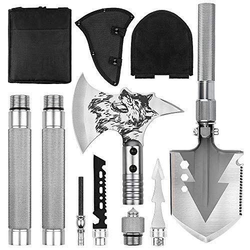 23-in-1 Multi-Purpose Folding Shovel Ultimate Survival Spade AXE Camping Tool