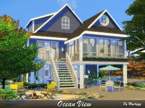Ocean View House By Mychqqq From Tsr For The Sims 4 Dom Simsov Makety Domov Chertezhi Doma