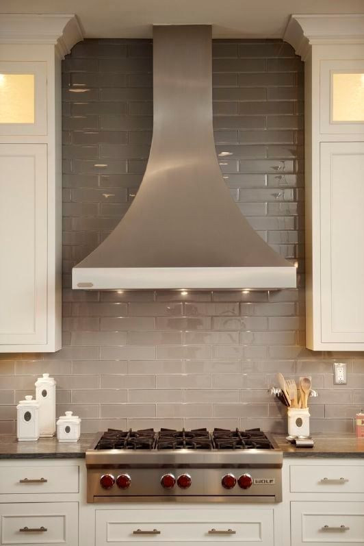 Good White Painted Kitchen Cabinets From Dura Supreme Cabinetry With Stainless  Steel Range And Hood. | Home Kitchens | Pinterest | White Paints, ...