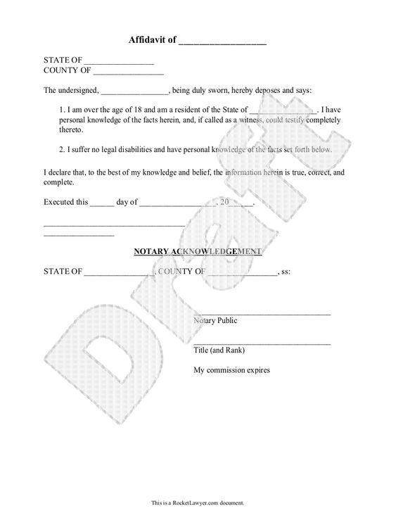 tennessee affidavit of residency - Google Search Affidavit of - example of a sworn affidavit