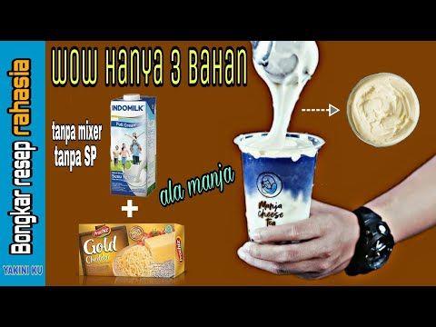 Membuat Cream Cheese Foam Krim Keju Untuk Topping Minuman Wow Hanya 3 Bahan Youtube Minuman Keju Resep Minuman