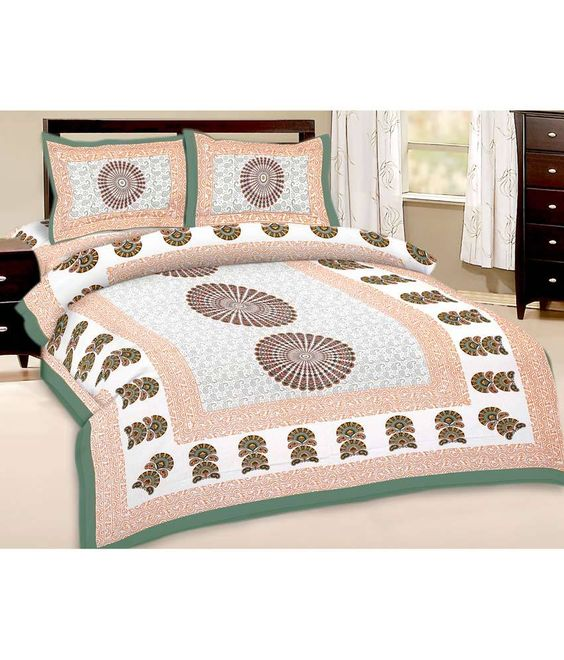 Loved it: Kismat Collection Brown Printed Cotton Double Bedsheet with 2 pillow cover, http://www.snapdeal.com/product/kismat-collection-rounded-printed-cotton/659874097158