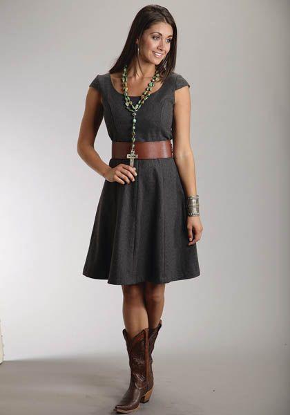 Mobile Women&-39-s Grey Wool Blend Cap Sleeve Dress Stetson Ladies ...