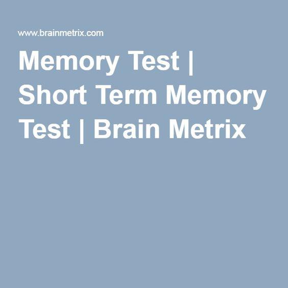 Testing short term memory?