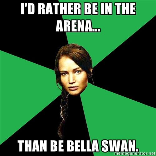 I'd rather see Bella Swan IN the arena!