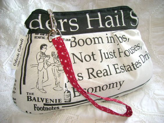 Bolsinhas de mão em tecido.  http://www.flickr.com/celestefcatroli: