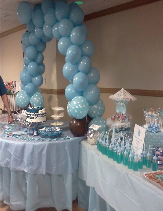 Boy baby shower decorations theresa gift 4 u private for Baby showers pictures for decoration