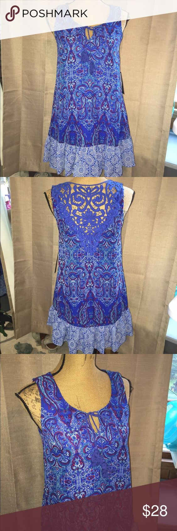 NWT As U Wish dress NWT As U Wish dress! Gorgeous boho dress with crochet back! As U Wish Dresses