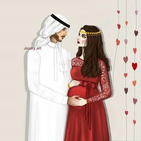Pin By Shabnammahjoor On My Daughter My Son Mother Art Anime Pregnant Cute Muslim Couples