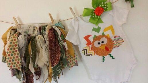 Fabric tutu & applique onesie Mysweetchickapea etsy.com Handmade in USA☆☆☆