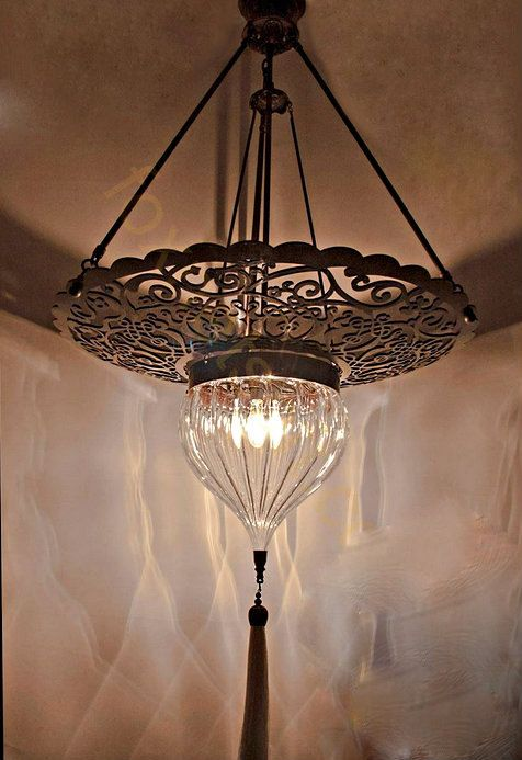 Moroccan Punched Metal Pendant Light