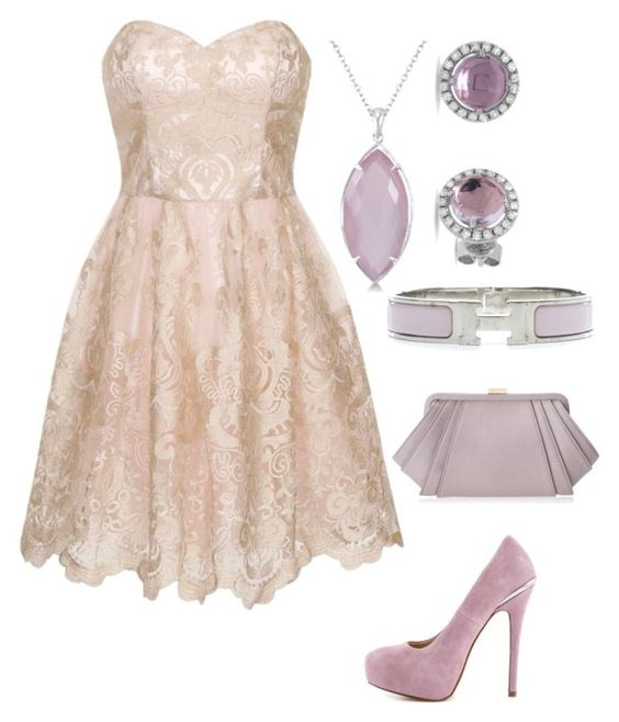 """""""Greek High Formal: Hebe"""" by becka-ramey ❤ liked on Polyvore featuring Chi Chi, ShoeMint, Allurez, Hermès and ZAC Zac Posen"""