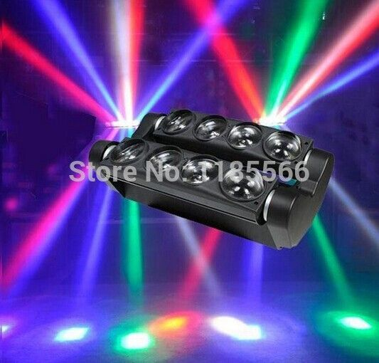 Find More Stage Lighting Effect Information about on sales 2pcs/lots  hottest rgbw 8pcs10W Quad 4in1 CREE LED moving head beam Spider bar  disco light,High Quality disco ball light bulb,China disco scanner light Suppliers, Cheap light hair from hh-perfect brand lighting store on Aliexpress.com
