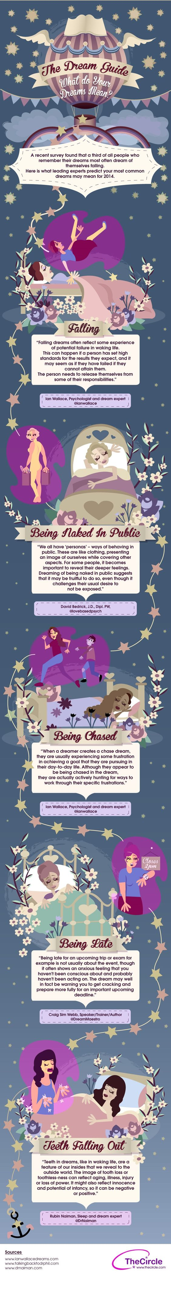 The Dream Guide What do Your Dream Mean   #Infographic #Dream