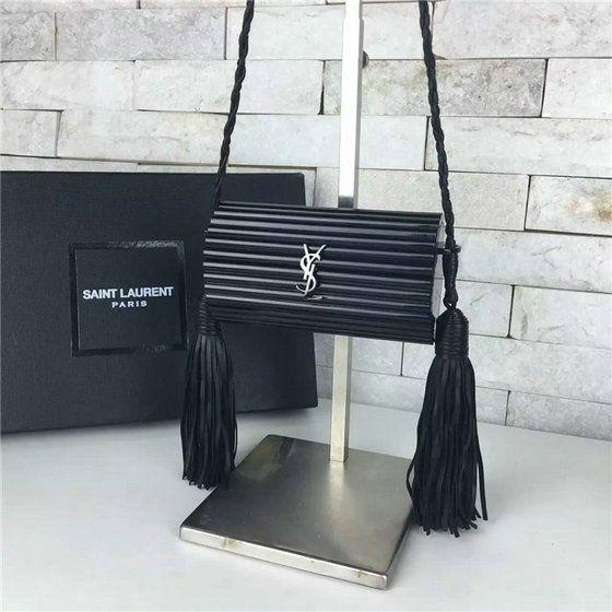 yves saint laurent leather bag - 2016 A/W YSL Opium Minaudi��re Bag in Black Glossy Plexiglas and ...