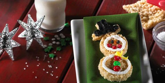 Rice Krispies® Snowman Treats™ made with M&M's®