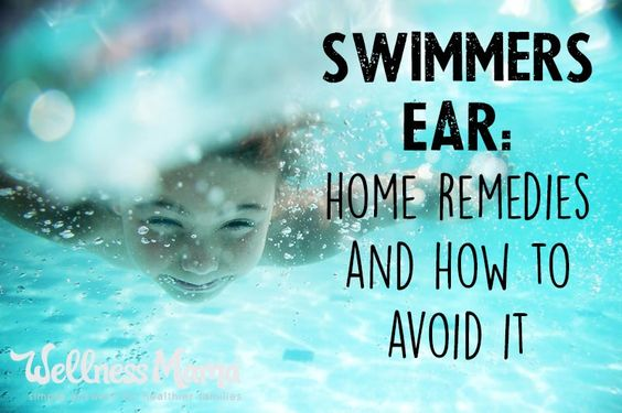 Natural Remedies for Swimmers Ear - Ever had swimmers ear? It's not fun, as my husband can recently attest to. Here's a few tips to keep from getting it and what to do to help get rid of it.