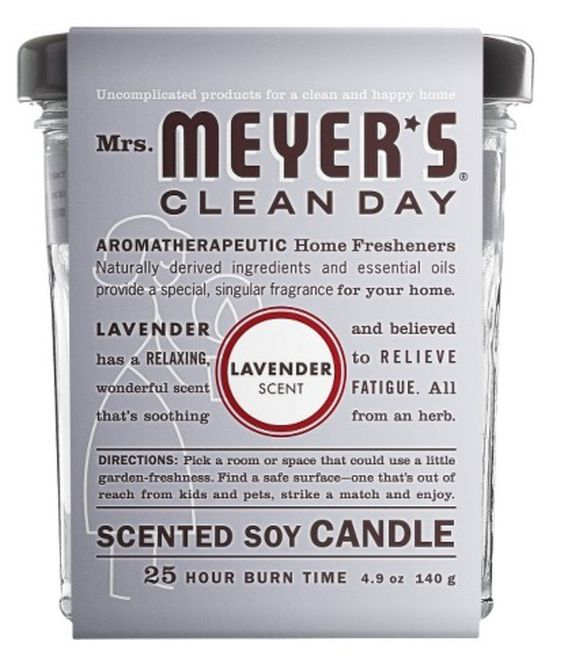 Mrs. Meyer's Clean Day Scented Soy Candle in Lavender, Target | #adoredecor #homedecor #decor