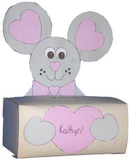 Caja de ratón para tarjetas de San Valentín
