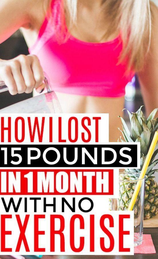 Wie man 15 Pfund in einem Monat verliert