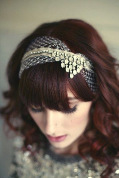 wouldn't this be neat to do with a vintage necklace? #hair #formal #headband