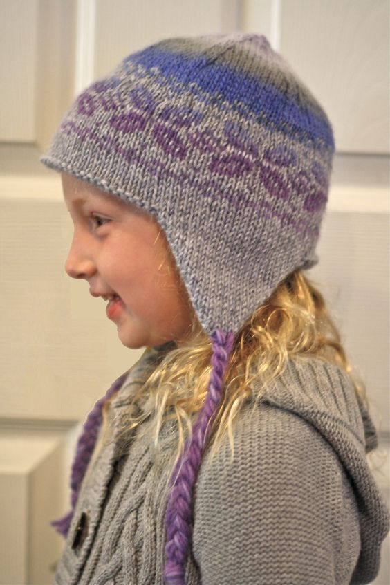 Knit Hat With Ear Flaps Pattern Free : Ear flap hat knit pattern by KnitPicks Knitting Pinterest Knit patterns...
