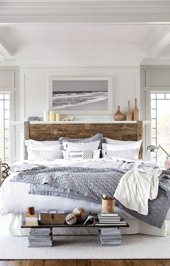 Salon Blanc Bois Noir : pour une chambre à coucher avec peinture de mer httpwwwmhabitat