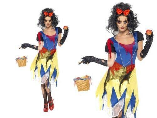 Zombie Snow White Princess Dress Halloween Child Girls Costume Size 14-16