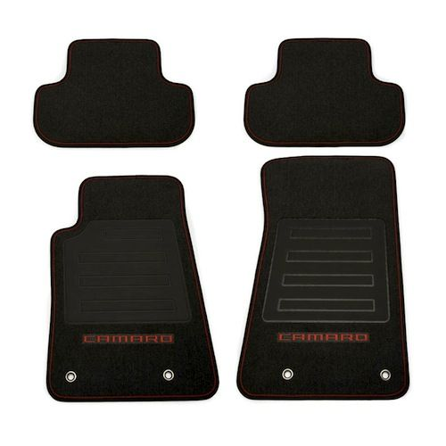 These Premium Carpet Floor Mats Will Add A Custom Appearance While Helping To Protect The Carp Camaro Accessories 2012 Camaro Accessories Chevrolet Accessories
