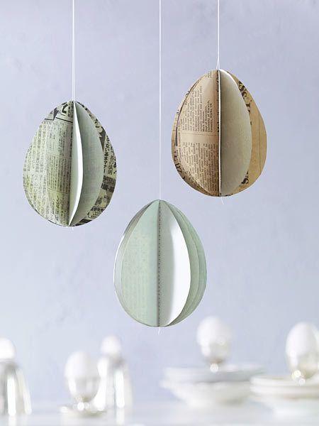 Origami, Papier-Hängeschmuck and Eier on Pinterest