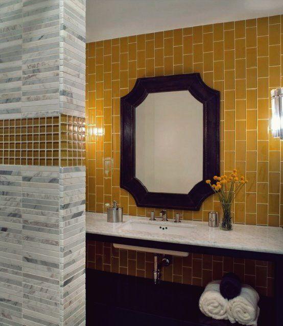 36 Leuchtend Gelbe Ideen Fur Die Perfekte Badezimmerdekoration