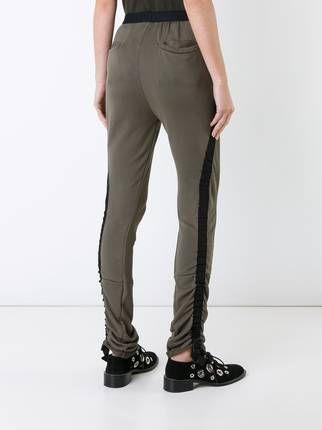 Unravel side stripe parachute pants