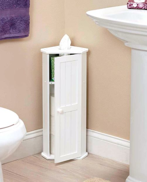 Small Corner Cabinet For Bathroom Toilet Paper Holder Storage Tissues Shelf Small Bathroom Storage Bathroom Corner Storage Diy Bathroom Storage