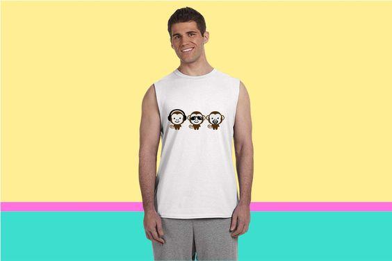 three modern monkeys Sleeveless T-shirt