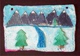 Artsonia Art Exhibit :: Clay Tile Landscapes, 8th grade (B)
