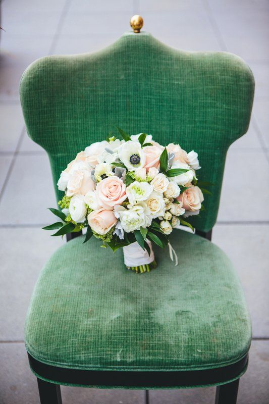 Blush Rose and Anemone Bouquet | photography by http://www.thegoodness.com/