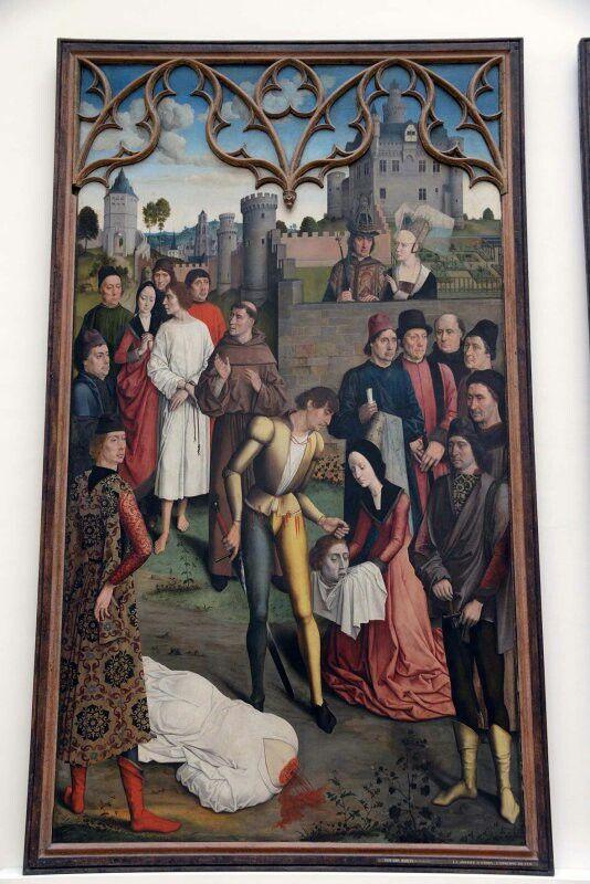 La justice de l'empereur Otton : Le supplice du comte innocent, vers 1460 Dirk Bouts Détail