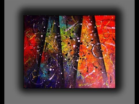 Colorful Abstract Painting Fun With Acrylics Creating Textured Surface With Random T Abstract Painting Acrylic Abstract Painting Colorful Abstract Painting