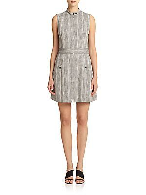 Boss Hugo Boss Dalasi Dress - Black - White - Size 0
