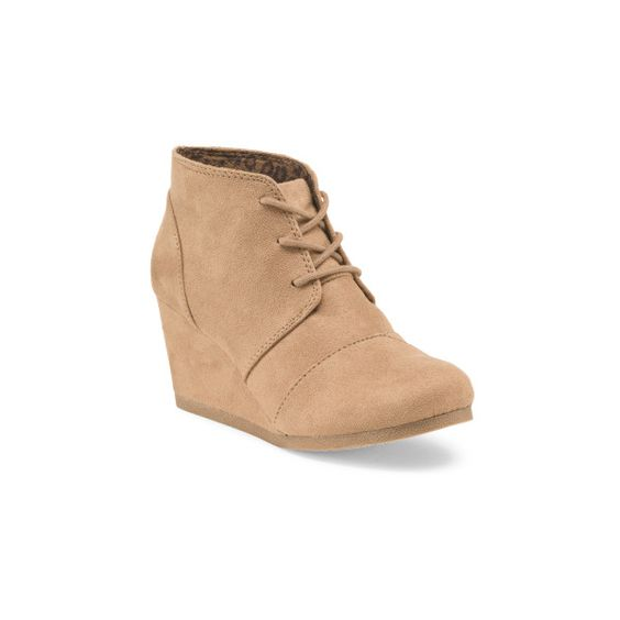 Lace Up Wedge Bootie ($25) ❤ liked on Polyvore featuring shoes, boots, ankle booties, lace up bootie, short boots, lace up booties, lace-up wedge booties and wedge heel ankle boots