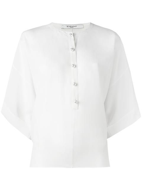 GIVENCHY pearl neck blouse. #givenchy #cloth #blouse