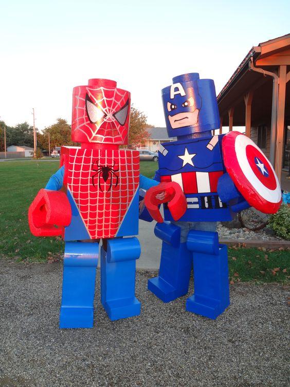 Hand made lego man costumes