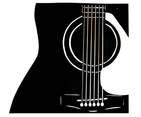 Guitar Silhouette White Guitar Silhouette Screen Printing Pinterest Studios Originals And Hands