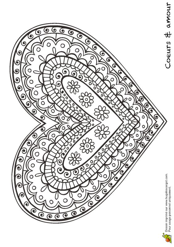 valentine heart coloring pictures