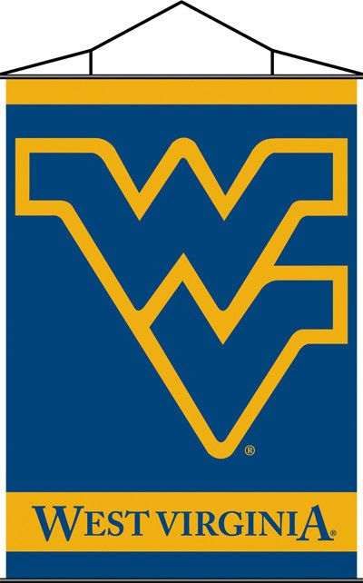 """West Virginia Mountaineers 28x40"""" Wall Banner"""