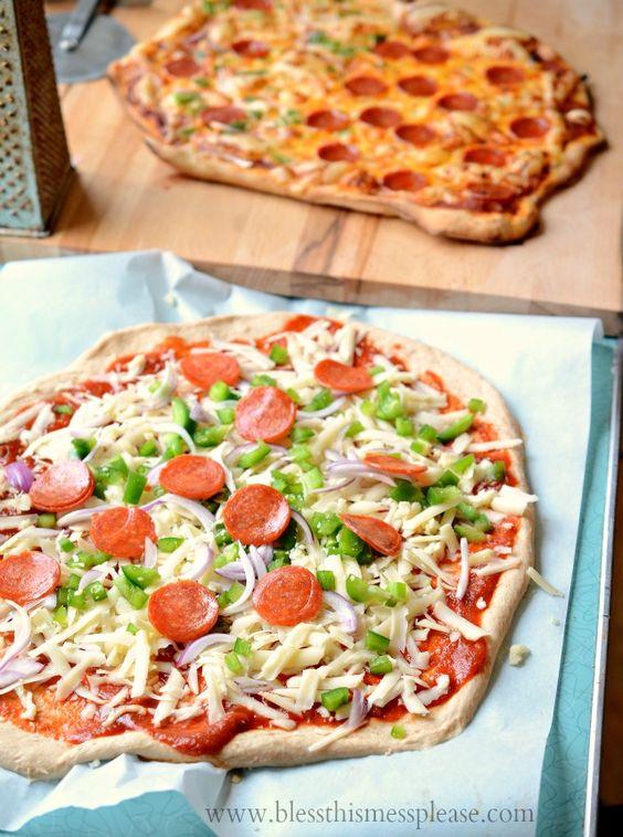 100% Whole Wheat Pizza Crust | Recipe | Whole wheat pizza ...